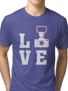 Love Photography - Photographer - Camera  Tri-blend T-Shirt
