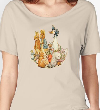 Children's Story Book Animals Women's Relaxed Fit T-Shirt