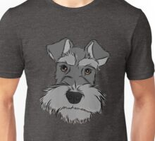 Adorable Miniature Schnauzer Unisex T-Shirt