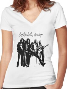 Alice Cooper Love It To Death Women's Fitted V-Neck T-Shirt