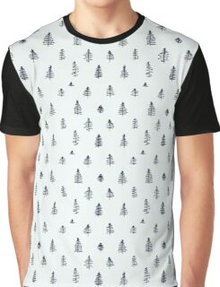 Patterns with cute hand drawn trees Graphic T-Shirt