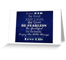 Inspirational Quote Affirmations Greeting Card