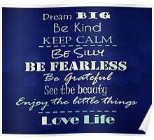 Inspirational Quote Affirmations Poster