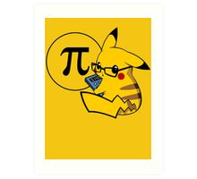Pi-kachu v2.1(with shadows and glasses without lenses) Art Print