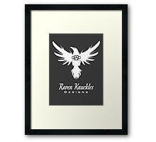 Raven Knuckles White Framed Print