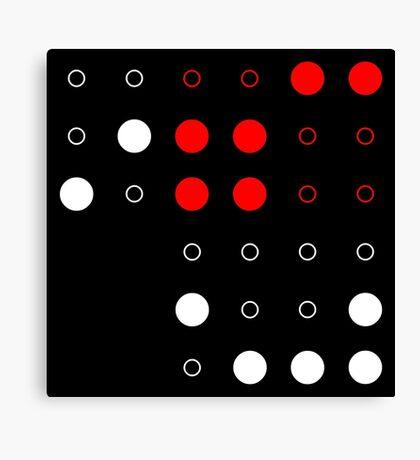 M<3tropolis (Black) Canvas Print