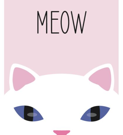 Cute white cat Meow Sticker