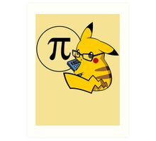 Pi-kachu v2.0(with shadows and glasses with lenses) Art Print