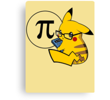 Pi-kachu v2.0(with shadows and glasses with lenses) Canvas Print