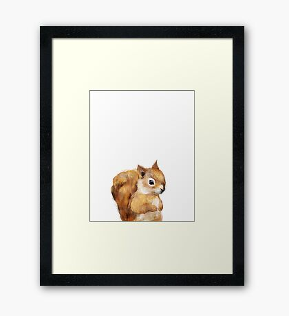 Little Squirrel Framed Print