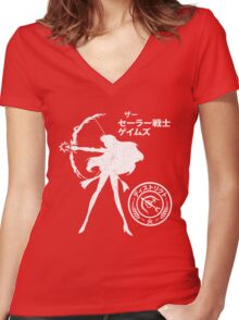The Senshi Games: Mars ALT version Women's Fitted V-Neck T-Shirt