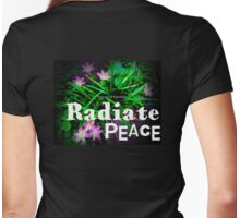 Radiate Peace Lilies Womens Fitted T-Shirt