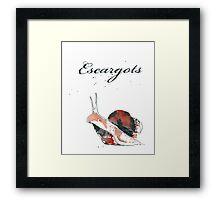 Escargot Framed Print
