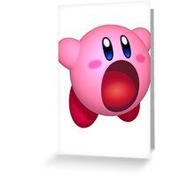Inhaling Kirby Greeting Card