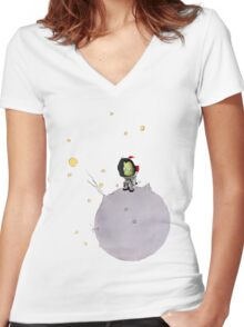 Le petit Kerbaunote Women's Fitted V-Neck T-Shirt