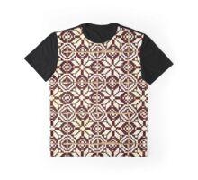 Portuguese tiles: Brown on white geometric pattern Graphic T-Shirt