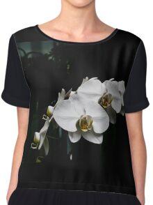 White Orchid Chiffon Top