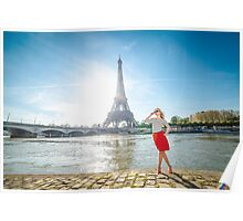 Sunny day  in Paris Poster
