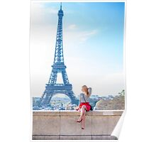 Radiating in paris in a sunny day Poster