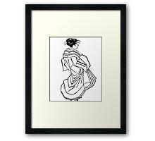 Japanese Dress Framed Print
