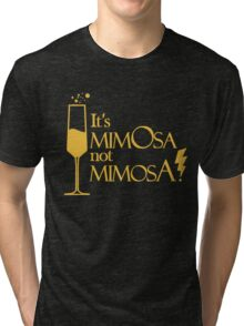 Wingardium MimOsa - Black/Yellow Tri-blend T-Shirt
