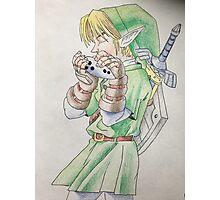 Link playing Ocarina Photographic Print