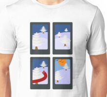Winter in 4 Pictures Unisex T-Shirt