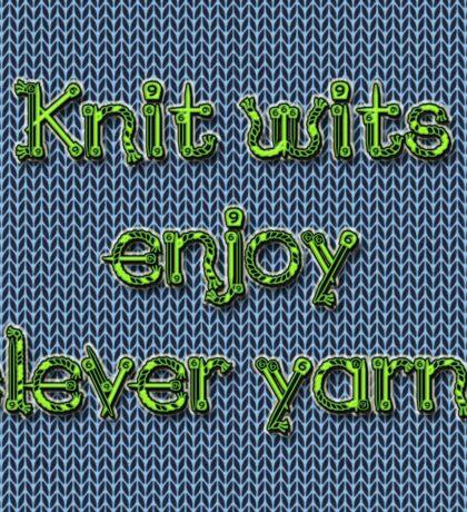 Knit wits Sticker