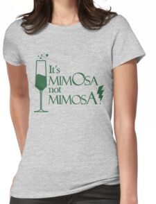 Wingardium MimOsa - Emerald/Silver Womens Fitted T-Shirt