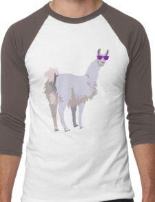 Cool Llama In Sunglasses Men's Baseball ¾ T-Shirt