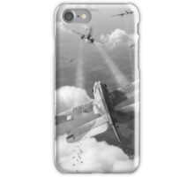 Headlong attack (Hurricanes over Weymouth) black and white version iPhone Case/Skin