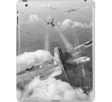 Headlong attack (Hurricanes over Weymouth) black and white version iPad Case/Skin