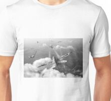 Headlong attack (Hurricanes over Weymouth) black and white version Unisex T-Shirt