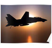 F14 On Sunset Patrol Poster