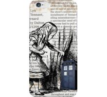 Little Girl Found Police Public Call Box on Old Newspaper iPhone Case/Skin