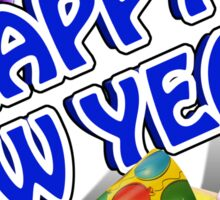 New Years Celebration Party Hats Sticker
