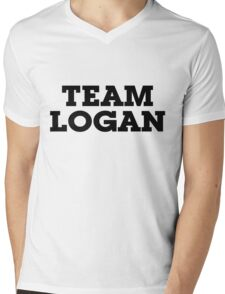 Team Logan Mens V-Neck T-Shirt