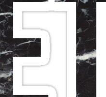 zeta black marble Sticker
