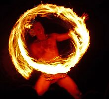 Samoan Fireknife dancer by Linda Sparks