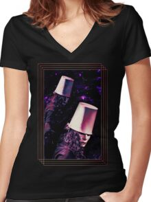 Buckethead - Black Women's Fitted V-Neck T-Shirt