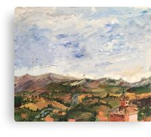 Siena Landscape Canvas Print