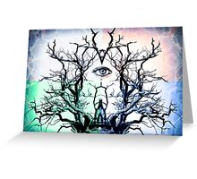 Tree Vision of Symmetry Greeting Card
