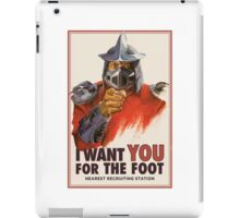 Foot clan recruitment tee iPad Case/Skin