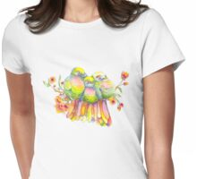 Birds and Blossoms Womens Fitted T-Shirt