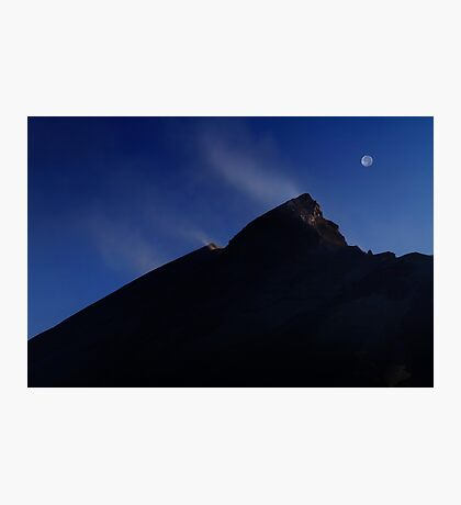 Moon Over Mount St. Helens. Photographic Print