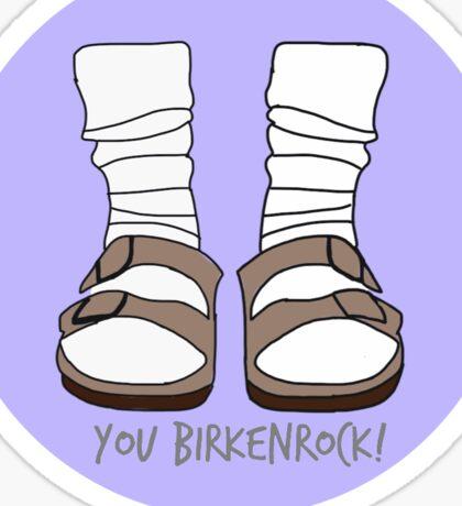 You Birkenrock Purple  Sticker