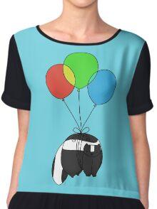Balloon Skunk Chiffon Top