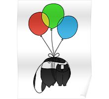 Balloon Skunk Poster