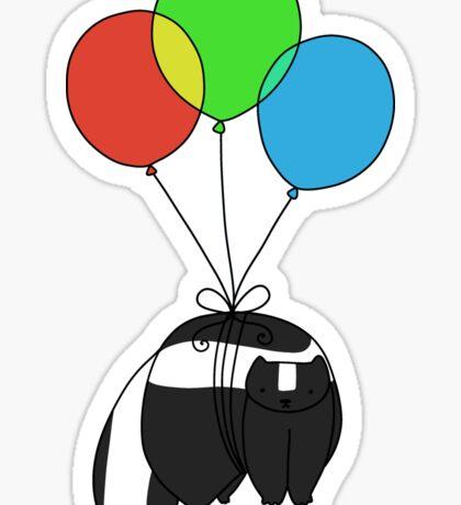 Balloon Skunk Sticker