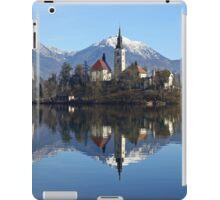 Church on island at Lake Bled Slovenia iPad Case/Skin
